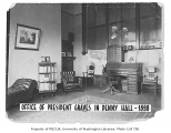 Administration Building (now Denny Hall) interior showing President Graves' office, University of...