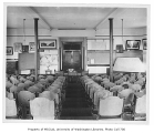 Administration Building (now Denny Hall) interior showing Dr. Henry Landes' lecture room,...