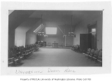Administration Building (now Denny Hall) interior showing society room, University of Washington,...