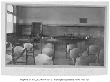 Administration Building (now Denny Hall) interior showing chemistry lecture room, University of...