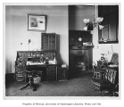 Administration Building (now Denny Hall) interior showing president's office, University of...
