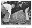 Bronze sundial from the class of 1912, University of Washington, May 1952