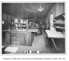 Assay Laboratory interior showing students at work, University of Washington, ca. 1900