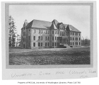 Clark Hall exterior, west and north sides, University of Washington, ca. 1900