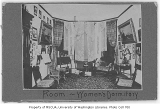 Clark Hall interior showing dormitory room, University of Washington, ca. 1900
