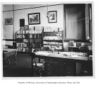 Administration Building (now Denny Hall) interior showing Dr. Henry Landes' classroom, University...