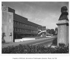 Electrical Engineering Building with statue of James J. Hill, University of Washington, n.d.