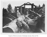 Old Forestry Building being demolished, University of Washington, 1930