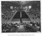 Commencement ceremony inside Edmundson Pavilion, University of Washington, June 14, 1941