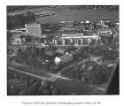 Aerial of southern portion of campus from north, University of Washington, ca. 1973