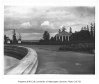 Music Pavilion as seen from Geyser Basin, University of Washington, ca. 1911