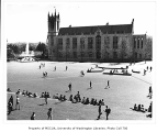 Gerberding Hall and Rainier Vista from north end of Central Plaza (Red Square), University of...