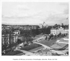 Campus view from the Administration Building showing Parrington Hall, University of Washington,...