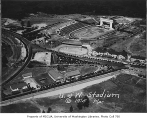 Aerial of Husky Stadium and surrounding area, University of Washington, 1925