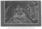 Administration Building (now Denny Hall) interior showing library, University of Washington, ca....