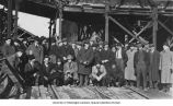 Students standing in front of the Tacoma Smelter Co. plant during a field trip for a University of...