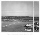 East campus parking lot and Montlake Landfill, looking northeast, University of Washington,...