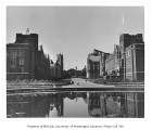 Rainier Vista, looking northwest over Frosh Pond to the flagpole, University of Washington, n.d.