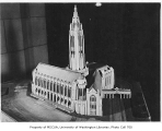 Architectural model of Suzzallo Library, University of Washington, ca. 1925
