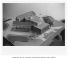 Architectural model of Suzzallo Library with 1963 addition, University of Washington, ca. 1963