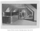 Administration Building (now Denny Hall) interior showing library, University of Washington, 1896