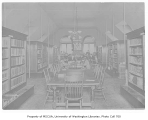 Administration Building (now Denny Hall) interior showing library, University of Washington, March...