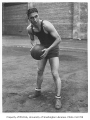 Basketball player Monty Snider, University of Washington, ca. 1925