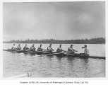 Rowing team at practice, University of Washington, ca. 1932