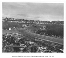 Montlake Landfill and university housing, looking northeast, University of Washington, December...