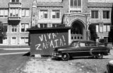 "Graffiti reading ""Viva Zapata!"" in front of Guggenheim Hall, University of Washington,..."
