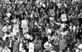 Crowd of protesters during the Vietnam Moratorium demonstration in downtown Seattle, October 15,...