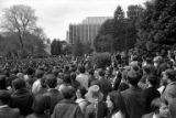 Crowd gathered for a rally at the University of Washington campus in response to the Kent State...