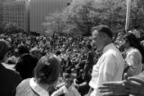 Crowd gathered in Seattle in response to the Kent State shootings, May 5, 1970