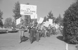 March on the University of Washington campus in support of a day care center, October 15, 1970