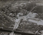 Aerial view of UW campus, circa 1926-1935