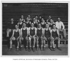 Basketball team with coaches, University of Washington, 1930
