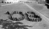 "Class of 1908 arranged on a football field to spell out "" '08 "", University of..."