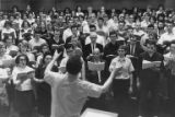 Choir singing, Music Building, University of Washington, between February-March 1965