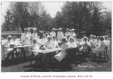 1930 Campus Day showing nurses, University of Washington