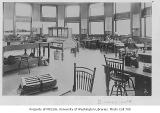 Administration Building (now Denny Hall) interior showing biology lab, University of Washington,...