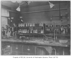 Administration Building (now Denny Hall) interior showing organic chemistry lab, University of...