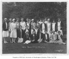 1930 Campus Day showing Mortar Board members, University of Washington
