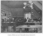 Students working in engineering classroom, University of Washington, 1901