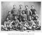 Football team with trophy, University of Washington, 1899