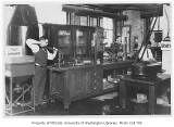 Students working in chemical engineering lab, University of Washington, ca. 1920