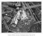 Gerberding Hall under construction, aerial view, University of Washington, ca. 1948
