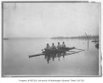 Crew in shell, University of Washington, 1902
