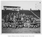 Football team at Husky Stadium, University of Washington, 1929