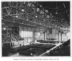 Commencement ceremony inside Edmundson Pavilion, University of Washington, June 13, 1942