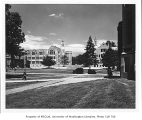Liberal Arts Quadrangle, looking north, University of Washington,  June 1950